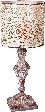 Metal Vintage Look Candle Holder Candle Lamp (Beige)