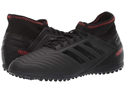 adidas Kids Predator 19.3 TF Soccer (Little Kid/Big Kid) (Black/Black/Active Red) Kids Shoes