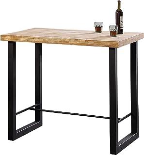 Adec - Loft, Mesa Alta de Cocina, Mesa de Bar, Barra, Mesa Contract, Color Roble Salvaje y Negro Medidas: 120 cm (Ancho) x 70 cm (Fondo) x 100 cm (Alto)