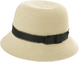 Womens Summer Sun Beach Straw Hats UPF Protective Panama Fedora Outdoor Patio