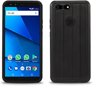 BLU Vivo X case, (V0230WW) 6 inch case, [ New Frontier Wireless], Tough Hybrid + Dual Layer Shockproof Drop Protection Metallic Brushed Case Cover for BLU Vivo X case (VGC Black)