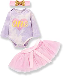 Baby Girl Fall Outfits 1st Birthday Romper Top Long Sleeve Floral Tutu Skirt 2Pcs Clothing Set