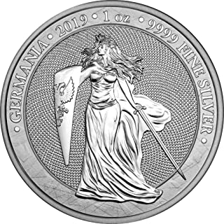 2019 DE BU GERMANIA 1 oz 999 Silver Coin $2 Uncirculated BM