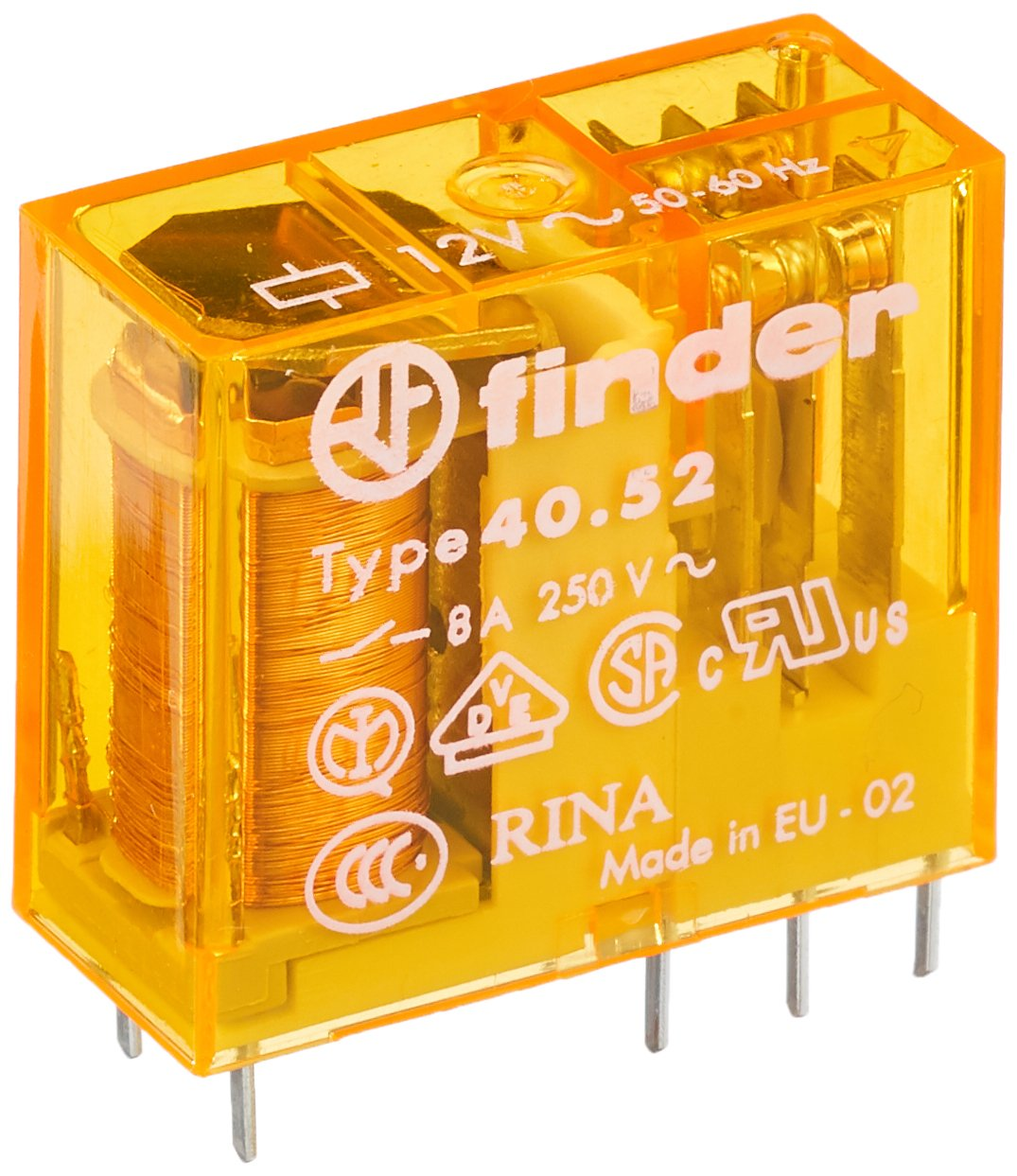 FINDER 40.52.8.012.0000 RELAY POWER THT DPDT 12VAC Max 89% OFF Import 15A