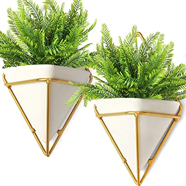 6Pcs Artificial Boston Fern Plants Greenery UV Resistant Fake Plants Greenery for Outdoors Fern Plant for Hanging Planter Fro