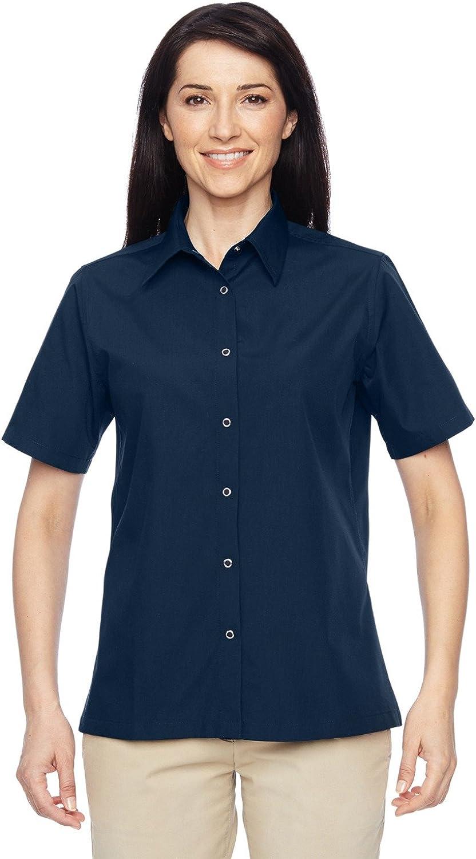 Harriton M545W Women's Advantage Snap Closure Short-Sleeve Shirt