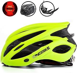 KING BIKE Casco de Bicicleta, con Luz Trasera de Seguridad LED/con Protección contra