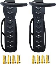 Suporte de parede para bicicletas, 2 peças, sistema de armazenamento de cabide de bicicleta, gancho vertical para galpão i...