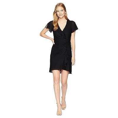 Nanette Lepore Calming Textured Jersey Dress (Black) Women