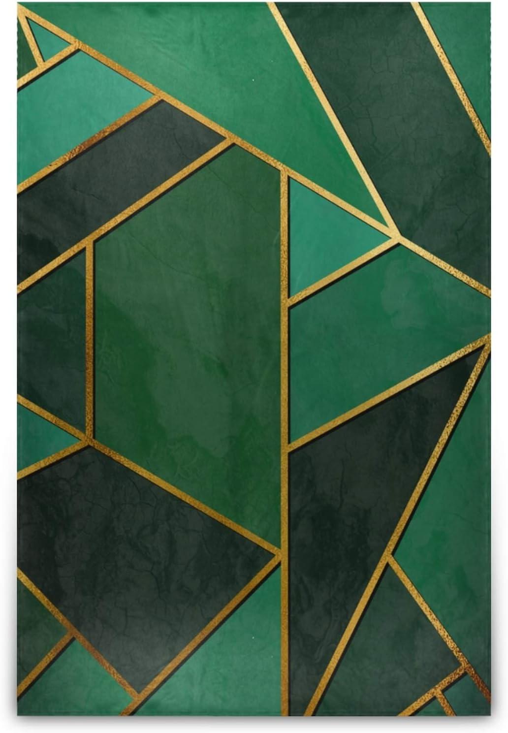 Translated WHIOFE GreenColorRetroNaturalArtLine60×90inchBedsureBlanketsSoft Gifts