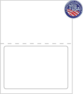 "Custom Mailing Labels FC-0018 – Integrated Label Sheets – 1 up Labels, 7 ½""x 5 1/8"" Full Perforated Sheet- can be Used as ..."
