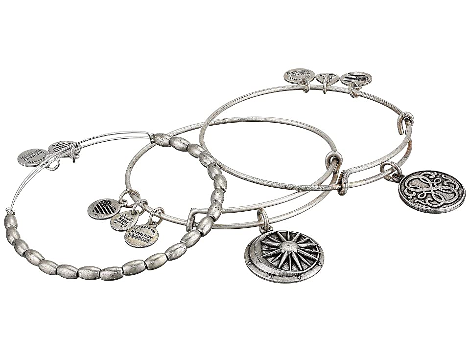 Alex and Ani Path Of Life Cosmic Balance Bracelet Set (Silver) Bracelet