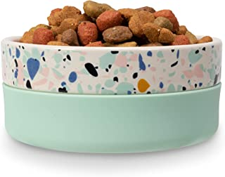 Now House for Pets by Jonathan Adler Now House Mint Terrazzo Duo Bowl, Small | Dishwasher Safe, Easy Clean Dog Bowl with A...