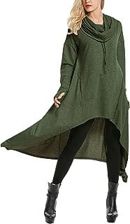 Women's High Low String Hoodie Tunic Sweatshirts with Pocket