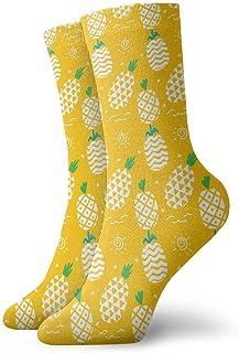 Luxury Calcetines de Deporte Yellow Cute Pineapple Unisex Funny Art 3D Print Casual Crew Socks Athletic Crew Socks