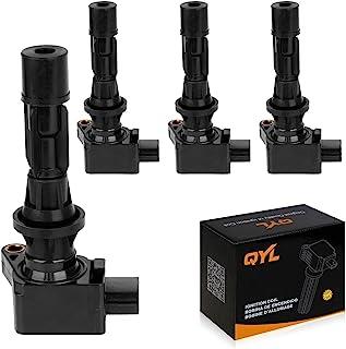 QYL Paquete de 4 bobinas de encendido de repuesto para Mazda 3 6 2006-2013 CX-7 2007-2012 Mx-5 Miata 2006-2015 #UF540 L3G2...