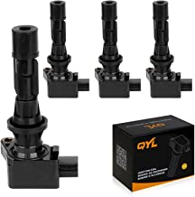 QYL Pack of 4Pcs Ignition Coils Replacement for Mazda 3 6 2006-2013 CX-7 2007-2012 Mx-5 Miata 2006-2015#UF540 L3G218100A C...