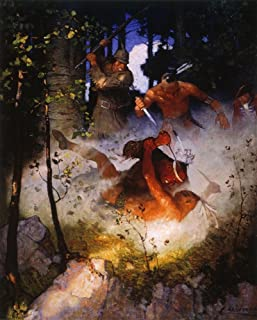 Last Of The Mohicans 1919 Nthe Fight In The Forest Illustration By NC Wyeth From The 1919 Edition Of The Last Of The Mohic...