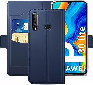 YATWIN Case Compatibel voor Huawei P30 Lite case, Stand Case, Blauw