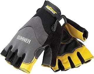 Maximum Safety 120-4300/XL Gunner Professional Workman Half Finger Gloves with Goatskin Reinforced Palm, Tan/Black, X-Large