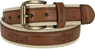 Columbia Men's Stretch Belt with Fish Embossed Overlay