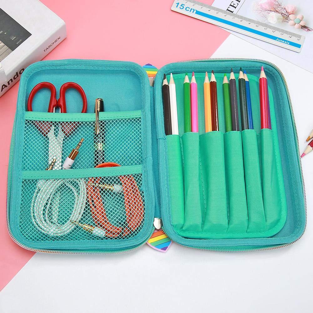 Caja de papelería, estuche para lápices, lindo estuche de lentejuelas de sirena para lápices de goma EVA, estuche de papelería, material escolar, bolsa de cosméticos, color B: Amazon.es: Oficina y papelería