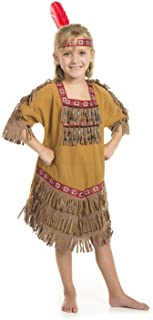 American Indian Princess Girl Costume with Feather Headband