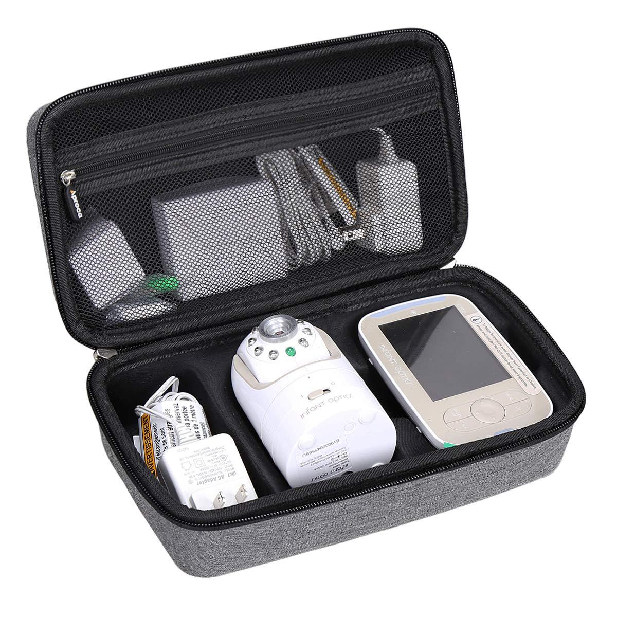 Aproca Hard Carry StorageTravel Case for Infant Optics DXR-8 Video Baby Monitor