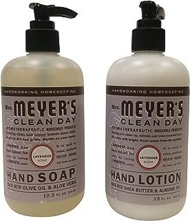 Mrs. Meyer Lavender Hand Lotion (12 oz) and Hand Soap (12.5 oz) bundle