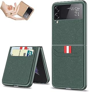 Shirley Voor Samsung Flip 3 Case, Lederen Portemonnee Kaarthouder Telefoon Case Voor Samsung Galaxy Z Flip 3 5g, Lederen L...