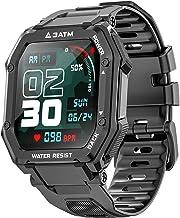 ساعتهای هوشمند ویژه بانوان مردانه ، فعال کننده ردیاب تناسب اندام با ضربان قلب مانیتور اکسیژن خون 3ATM ضد آب 1.69 اینچ صفحه نمایش لمسی کامل ساعت هوشمند برای iOS Android