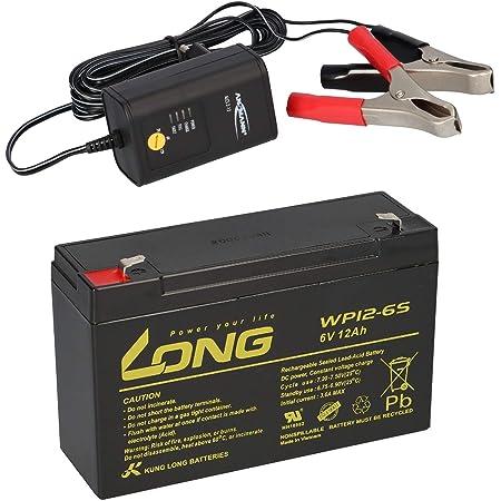 Agm Blei Akku Batterie 6v 12ah Kompatibel Für Elektronik