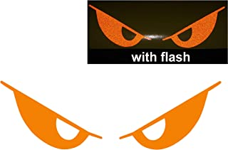 Orange Evil Eyes No Fear Decal Reflective Reflector Devil Demon Sticker 6