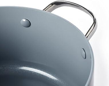 GreenPan Venice Pro 30cm/4.8L Nonstick Sauté Pan with 2 Side Handles, 100% ToxinFree, Healthy Ceramic, Metal Utensil/Inductio