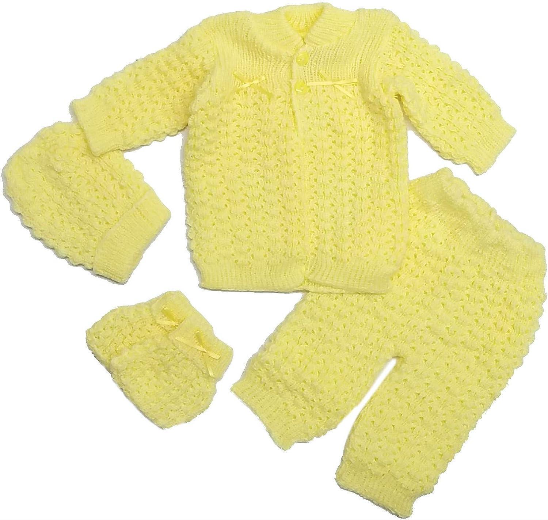 Fashion Cute Newborn Baby Boy's Girl's Unisex Warm Winter 4 Pieces Crochet Set