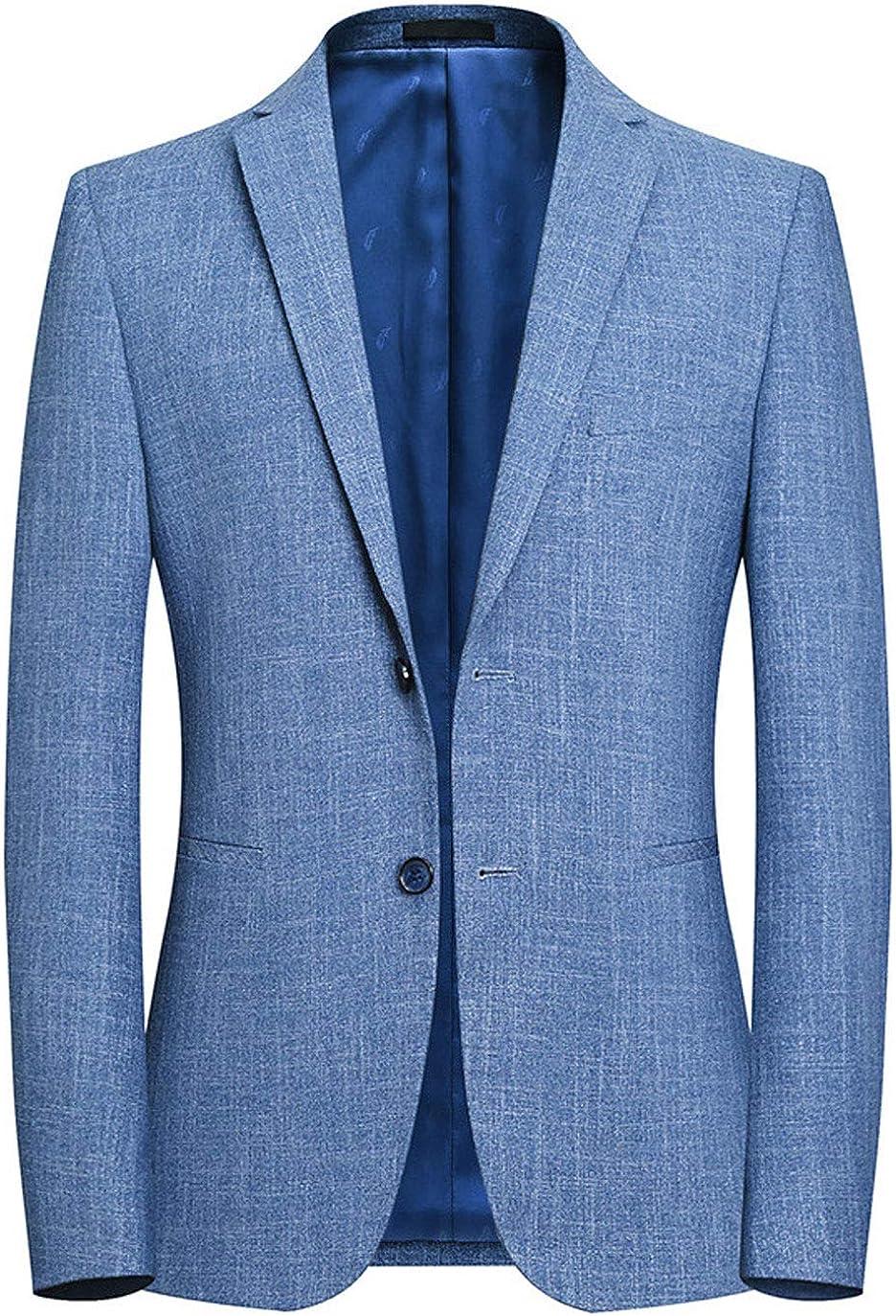 ebossy Men's Spring 2 Button Slim Fit Casual Lightweight Blazer Jacket Sport Coat