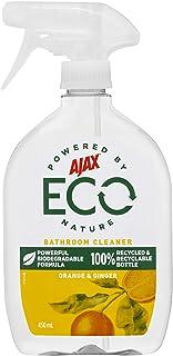 Ajax Eco Bathroom Cleaner Powerful Biodegradable Formula Orange & Ginger Trigger Surface Spray Made in Australia 450mL