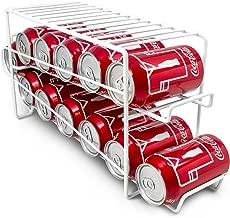 Sorbus Soda Can Rack Beverage Dispenser – Dispenses 12 Standard Size 12oz Soda Cans (White)