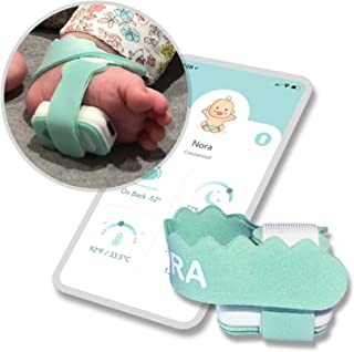 NORA Smart Sock (New 2021 Model). Birth to 3 Years. Heart Rate, Sleep Position, Temperature & Sleeping Tracking. iOS and A...