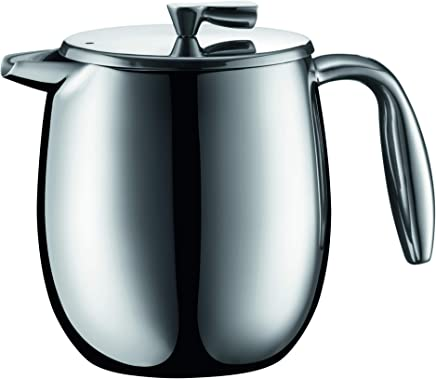 BODUM COLUMBIA Thermal French Press Coffee Maker, Stainless Steel, 17 Ounces, 4 Cups