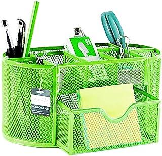 🍀Libobo🍀Pencil and Pen Holder Office Desk Supplies Organizer Desktop Metal Storage Mesh (Green)