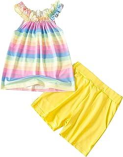 Clothes Rainbow Sleeveless Shorts Outfits