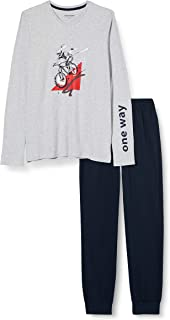 Schiesser Boy's Schlafanzug Lang Pajama Set, Gray-Mel, 164