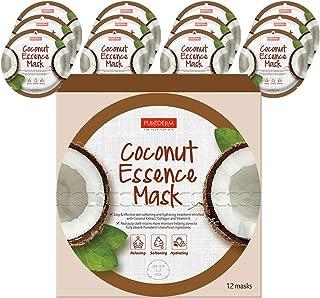 PUREDERM Coconut Essence Mask (12masks) / Facial mask/Circle mask/Collagen mask/Vitamin mask/Coconut mask