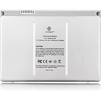 """Egoway Replacement Battery Compatible with Mac Book Pro 17"""" A1189 A1151 A1212 A1229 A1261 (Aluminum Body as Original)"""