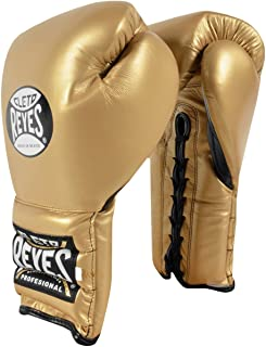CLETO REYES Traditional Lace Up Training Boxing Gloves - Solid Gold