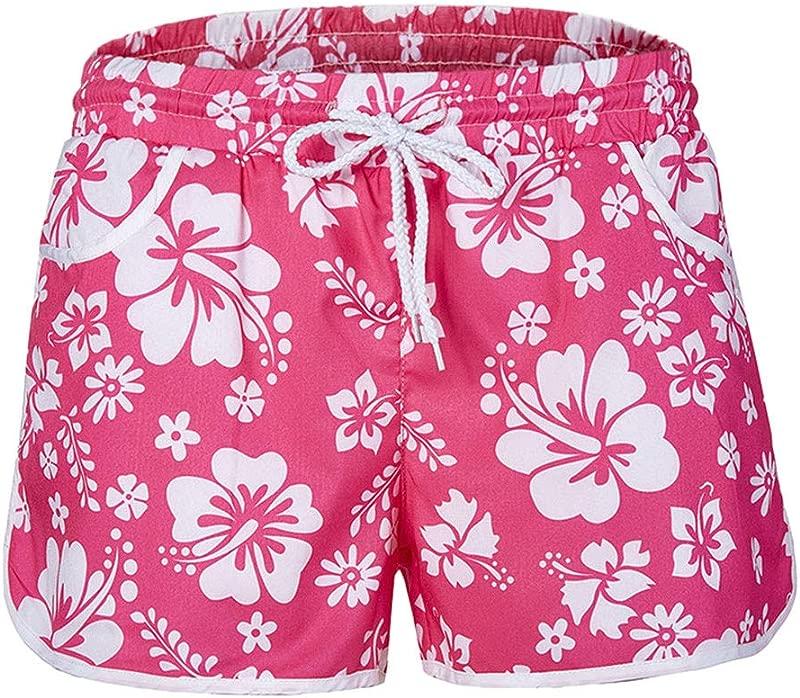 ZOMUSAR 2019 Fashion Women Multi Color Hot New Floral Print Hot Pants Ladies Beach Pants Shorts