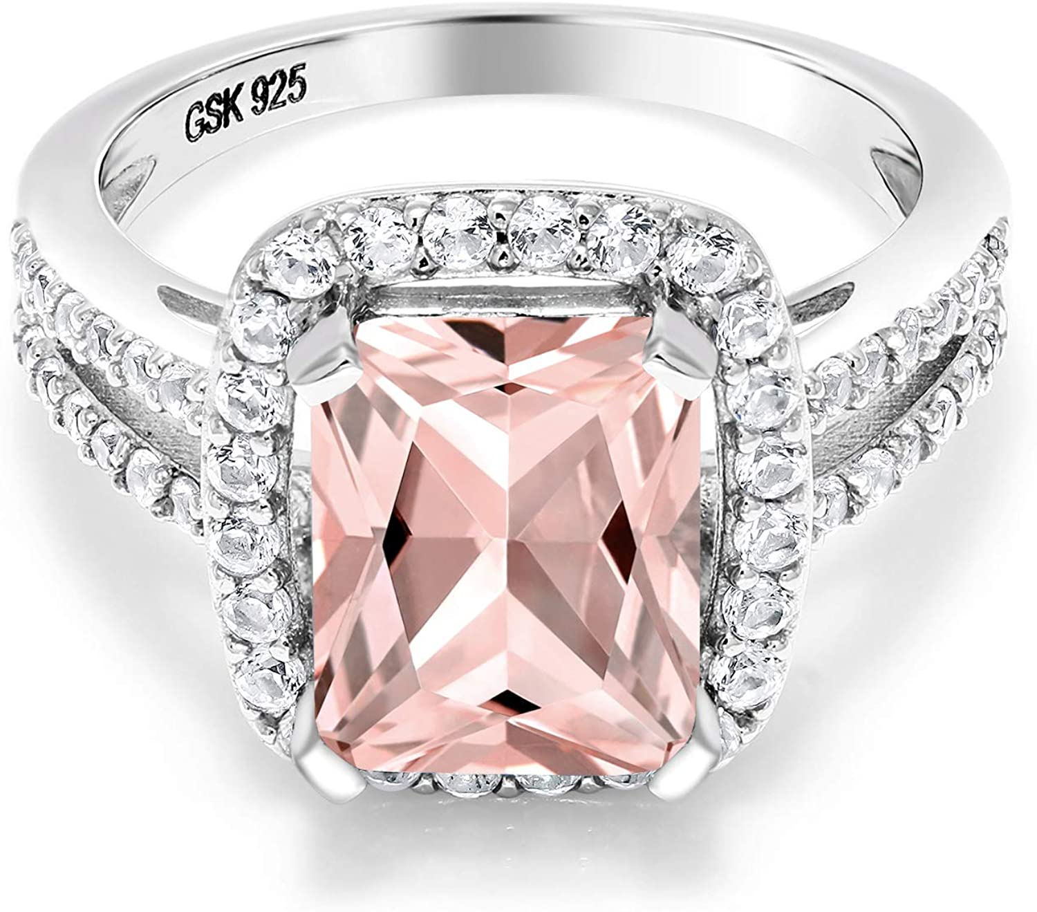 Gem Stone King 925 Sterling Outlet SALE Tulsa Mall Peach Silver Morganite Simulated Wom