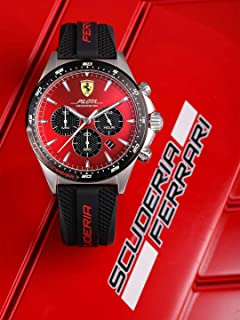 Ferrari Pilota Men's Red Dial Silicone Watch - 830595