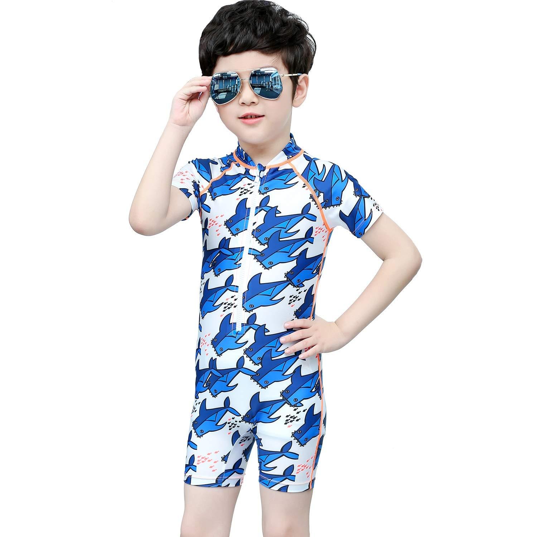 男の子の水着 少年少女漫画半袖水着水着 水着水着 (サイズ : S)